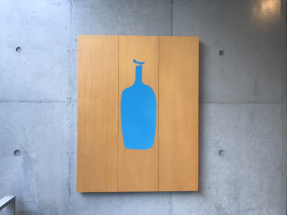 ボトル コーヒー メニュー ブルー
